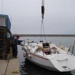 yacht lansat la apa, Portul Tomis